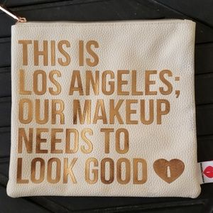 Los Angeles cosmetic make-up bag ivory rose gold